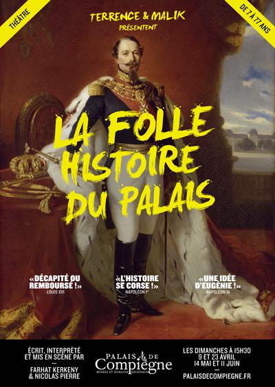 L'affiche de la folle histoire du Palais